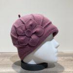 Bonnet laine bouillie vieux rose