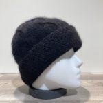 Bonnet angora noir