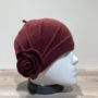 Bonnet laine bouillie bordeaux