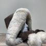 Capuche écharpe polaire et fourrure marron foncé