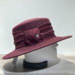 Chapeau bord moyen feutre laine bordeaux