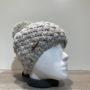 Bonnet tricot uni perle doublé avec pompon Herman
