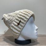 Bonnet tricot uni écru doublé Herman