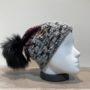 Bonnet bordeaux doublé avec pompon