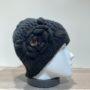Bonnet noir avec motif