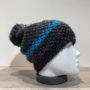 Bonnet noir doublé avec pompon Herman