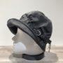 Chapeau de pluie noir doublé