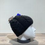 Bonnet tricot uni noir doublé Herman