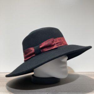 Chapeau bord large feutre laine noir