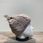 Bonnet tricot uni mastic doublé Herman