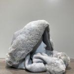Capuche écharpe polaire et fourrure gris