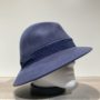 Chapeau feutre laine asymétrique indigo