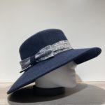 Chapeau bord large feutre laine marine