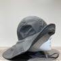 Chapeau de pluie gris bord large arrière doublé