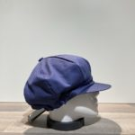 Casquette gavroche gros volume bleu élastiquée doublée