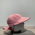 Casquette grande visière rose ajustable doublée