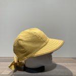 Casquette grande visière jaune ajustable doublée