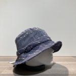 Chapeau bob lin bleu doublé