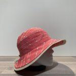 Chapeau bob lin rouge doublé