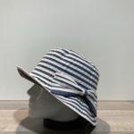Chapeau cloche marine-écru
