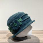 Chapeau cloche vert foncé doublure polaire