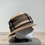 Chapeau cloche marron-taupe-chocolat doublure polaire