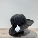 Chapeau cloche noir nœud noir