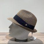 Chapeau trilby marine paille papier malléable