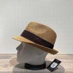Chapeau trilby camel paille papier malléable