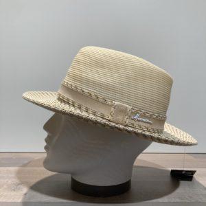 Chapeau écru paille papier malléable