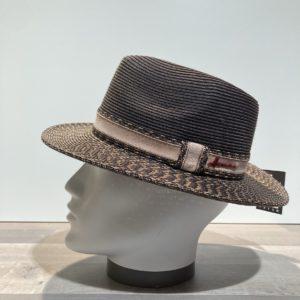 Chapeau marron paille papier malléable