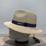 Chapeau beige paille papier malléable