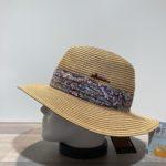 Chapeau camel paille papier malléable