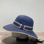 Capeline bleu paille papier