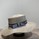 Chapeau canotier paille gris ajustable