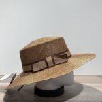 Chapeau canotier paille marron ajustable