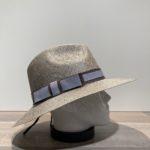 Chapeau paille gris ajustable