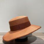 Chapeau canotier brique ajustable