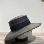 Chapeau canotier noir ajustable