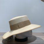 Chapeau canotier beige ajustable