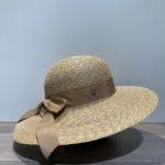 Capeline paille cousue avec ruban beige