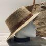 Chapeau canotier et sac raphia Madagascar