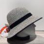 Chapeau cloche Anna Bucket blanc-noir anti UV ajustable malléable