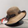 Capeline Hepburn naturel-noir anti UV ajustable malléable