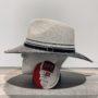 Chapeau Bella ivoire-noir anti UV ajustable malléable
