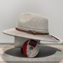 Chapeau Bella ivoire-stone anti UV ajustable malléable