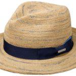 Chapeau Raphia Crochet Traveller Dan Stetson nature-bleu